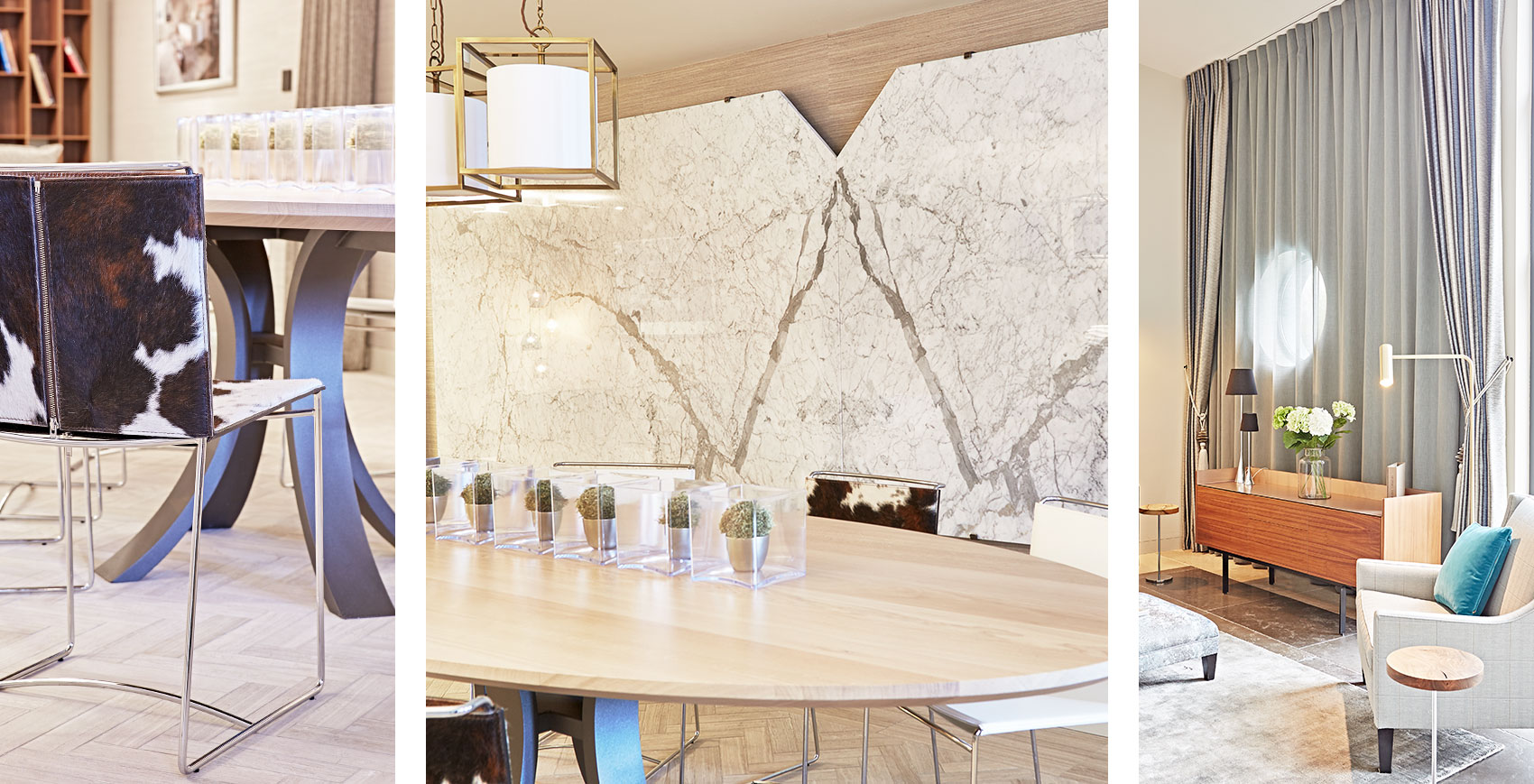Jam Interiors showroom book match marble